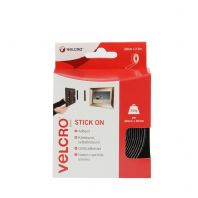 VELCRO® Brand Stick On Tape - 20mm x 2.5m Black